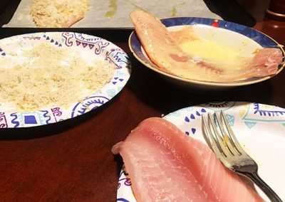 Low carb keto mayo egg wash tilapia